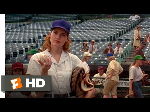 Dottie Catches a Fast Ball  A League of Their Own 28 Movie  1992 HD