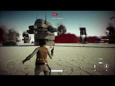 107 Leia killstreak milking the overtime strategy Star Wars Battlefront: 2