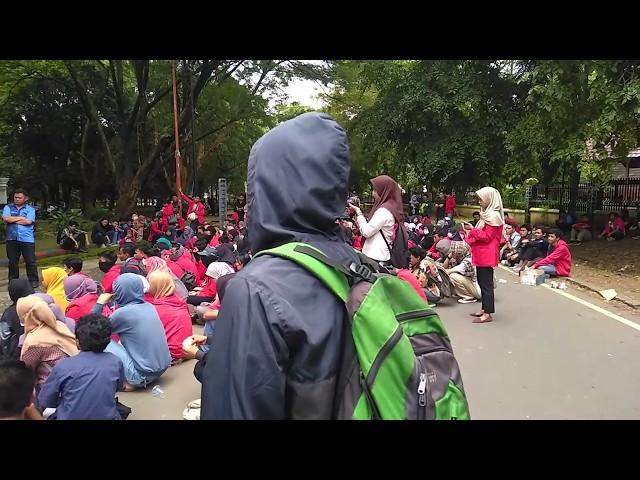 Demonstrasi Mahasiswa Fakultas Ilmu Kelautan dan Perikanan Universitas Hasanuddin