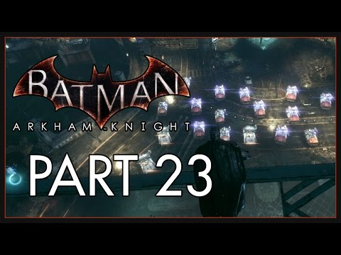 Batman Arkham Knight (Hard) Part 23 - Defend GCPD - GCPD Militia Tank Drone Battle