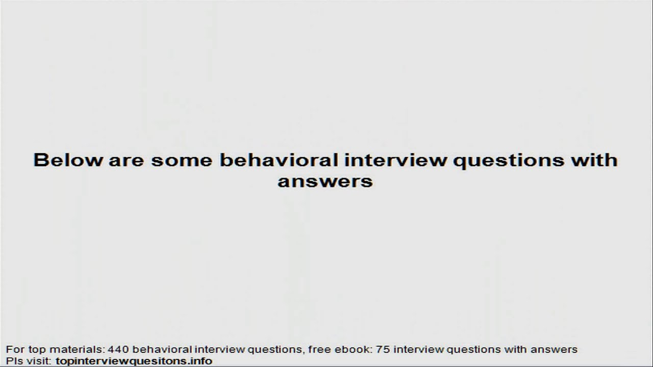 consulting behavioral interview questions consulting behavioral interview questions