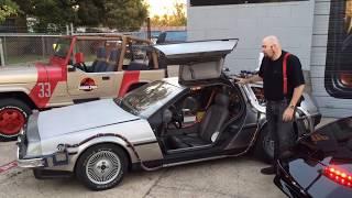 The Bob's Prop Shop Fleet of Replica Movie Cars! Time Machine! KITT! ECTO-1! A-TEAM!