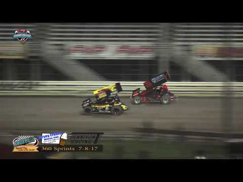 Knoxville Raceway 360 Highlights - July 8, 2017