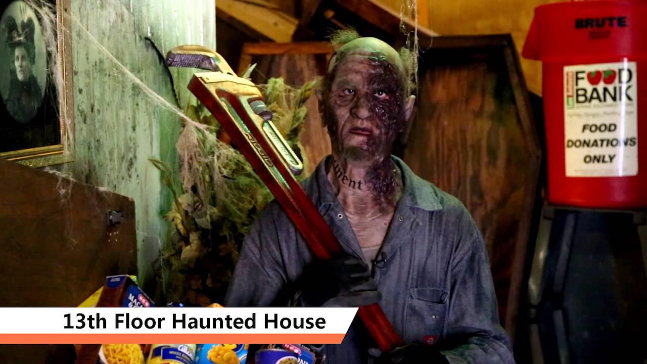 SA Goes Orange   13th Floor Haunted House. San Antonio Food Bank