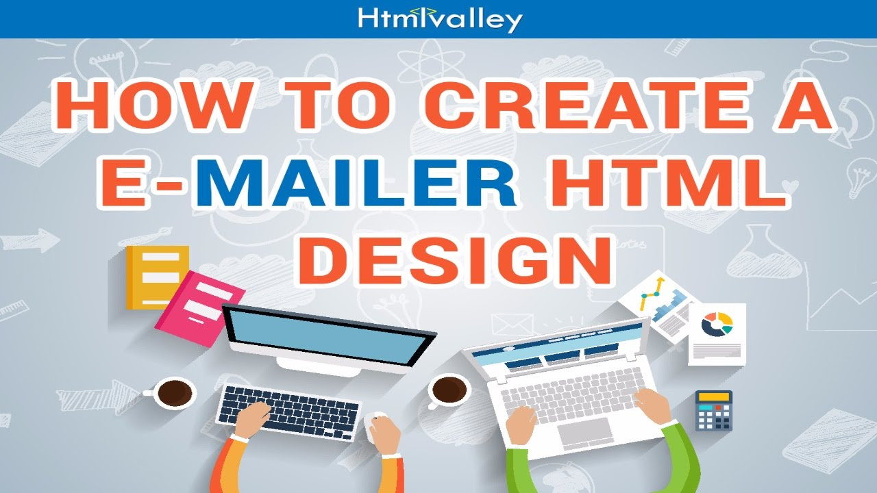 How to create html mailer template design - YouTube