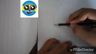 Menggambar doodle huruf K