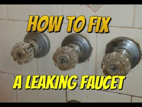 How to fix a leaking bathtub faucet - YouTube