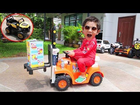 สกายเลอร์ | สกายเลอร์เล่นรถยกของ คันใหม่!! และโชว์รถแบตเตอร์รี่ทุกคันที่มี!!! จะเจ๋งหรือจะเจ๊งน้า??