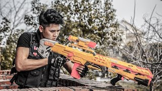 LTT Game Nerf War : Winter Warriors SEAL X Nerf Guns Fight Dangerous Criminal Gang Rocket Man