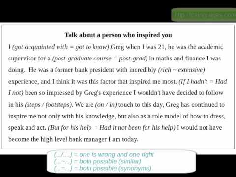 TOEFL Speaking 1 Talk about a person who inspired you - YouTube