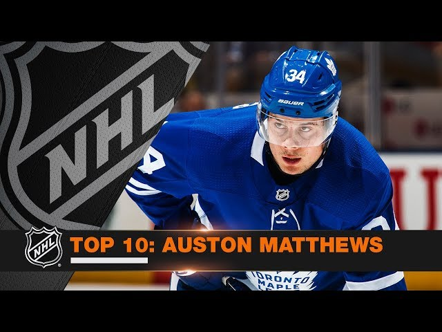 Top 10 Auston Matthews plays from 2017-18