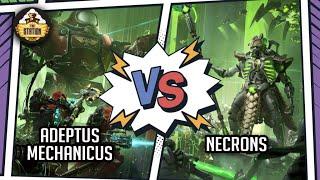 ADEPTUS MECHANICUS vs NECRONS I BATTLEREPORT 2000pts I Warhammer 40000