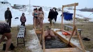 крещение на озере Юго-западный жилмассив. Новосибирск