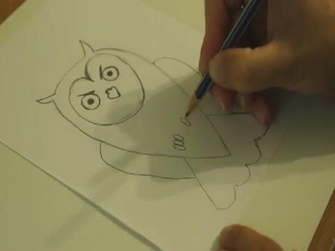 Сова  Как нарисовать сову