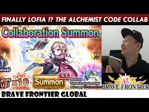 Finally Lofia? The Alchemist Code x Brave Frontier Global Collaboration Rare Summon