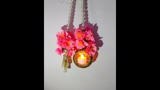 Diy How to make Easy Paper flower & Waste Bangle Wall Hanging / Door Hanging