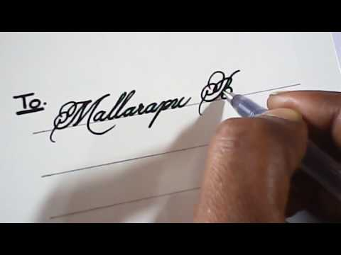 How to write awesome hand writiing on invitation cards | Mazic Writer