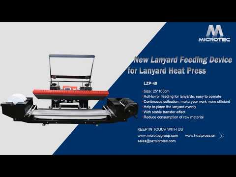 New Developed Lanyard Feeding Equipment For Lanyard Heat Press LZP 40