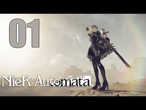 NieR: Automata - Let's Play Part 1: Time to Git Gud