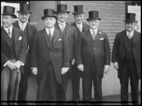 Arrival of Vice President Charles Curtis at Bryants 1930 Commencement