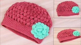 Super Easy Crochet Woolen baby Cap || Woolen crochet cap || Tutorial Easy Crochet Hat