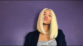 Best Synthetic Blonde Bob Wig For The Low!!