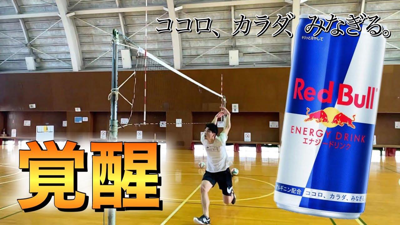 【検証】プロバレーボール選手がレッドブルを飲んだら本当に翼を授かってジャンプ力が上がるのか試してみた