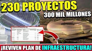 ¡GRAN NOTICIA! CON 230 PROYECTOS REVIVIRÁN PLAN DE INFRAESTRUCTURA EN MÉXICO