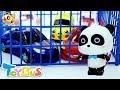 Baby Panda Turns into a Bad Guy   Parking Garage Playset   Panda Cartoon   Car Toys   ToyBus
