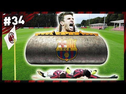 (O BARCELONA É O ROLO COMPRESSOR) | Modo Carreira #34 - Milan (FIFA 18)
