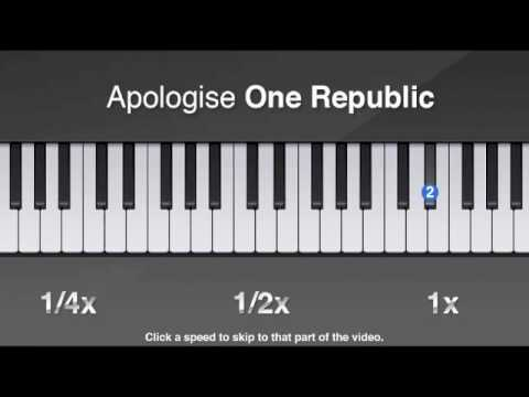 How To Play Apologize By One Republic On Piano Youtube