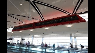 デトロイト・メトロポリタン・ウェイン・カウンティ空港 (エクスプレストラム) 前面展望