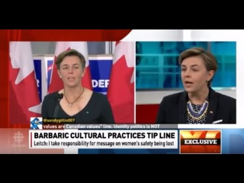 Kellie Leitch Tears Up & Apologizes For Muslim Tipline Roll-Out | Barbaric Practices