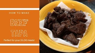 BEEF TAPA | HOW TO MARINATE & COOK