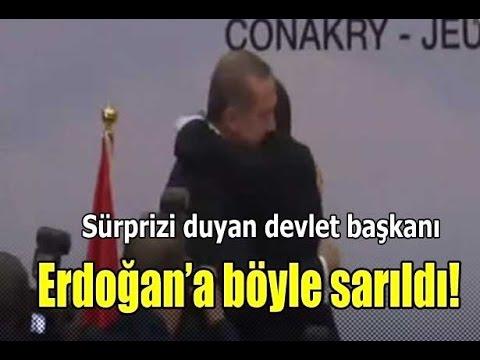 Süprizi duydu Erdoğan'a sımsıkı sarıldı!