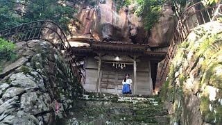 【巨大磐座】急斜面の赤い巨岩に座する赤岩神社【無名だけどすごい】