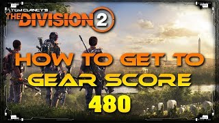 The Division 2 How To Get to Gear Score 480 Kinda Fast Leveling Guide | Crafting Materials Farm thumbnail