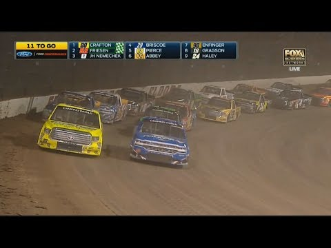NASCAR Camping World Truck Series 2017. Eldora Dirt Derby. Restart & Last Laps