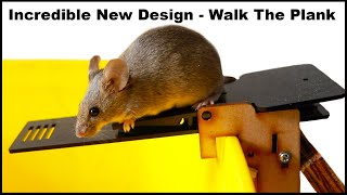 Incredible New Design Catches 10 Mice In One Night. The PLANKY B Mouse Trap. Mousetrap Monday.