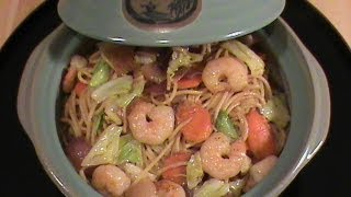 Shrimp Lo Mein -- Quick & Easy Chinese Cuisine  By Chinese Home Cooking Weeknight Show