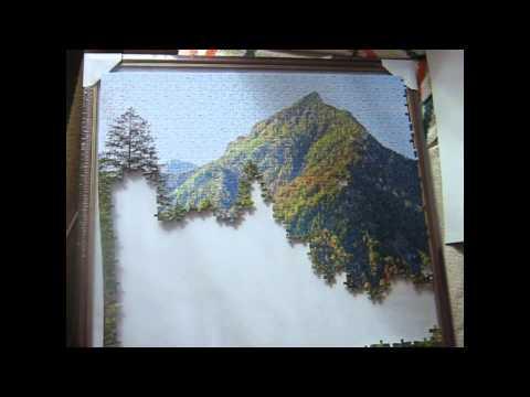 Собираем пазл фирмы Castorland 4000 Величие гор (1 часть)