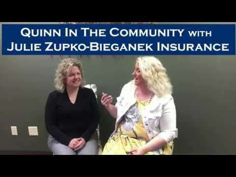 Quinn In the Community with Julie Zupko at Bieganek Insurance