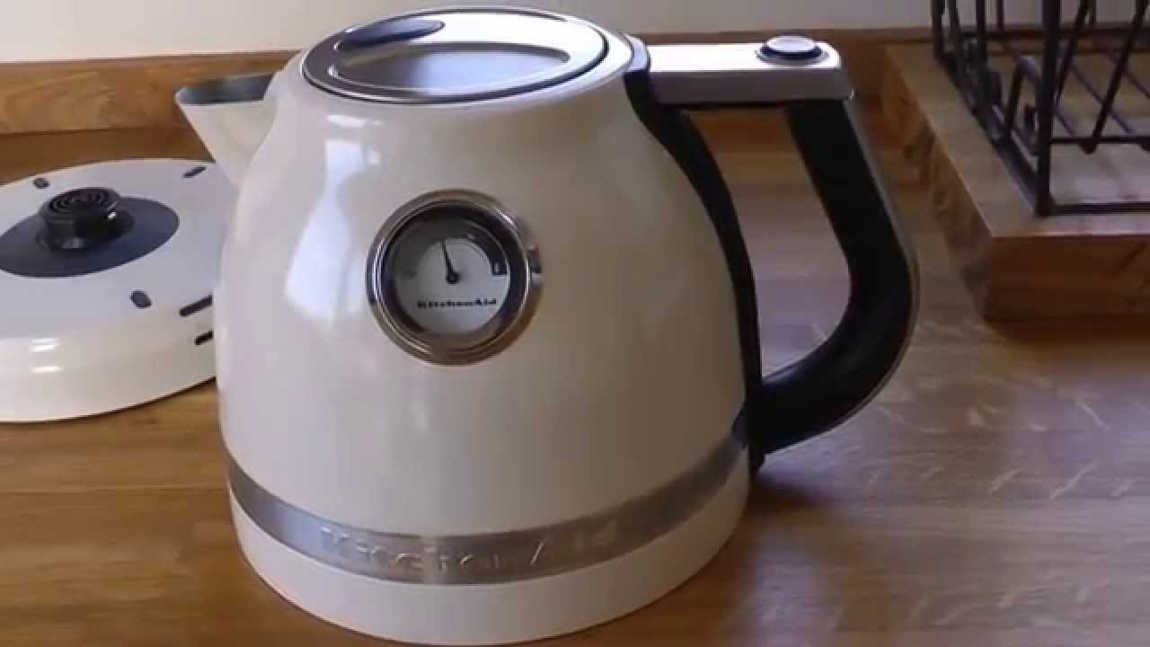kitchen aid electric kettle extractor hood kitchenaid artisan almond cream youtube