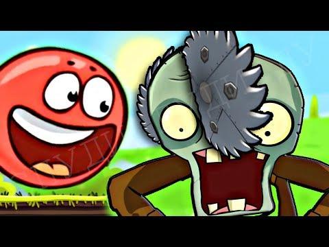 99999 ЗОМБИ НАПАЛИ НА КРАСНЫЙ ШАРИК ! Энгри Бердз ! Red Ball 4 in Angry Birds Мультик про Шар