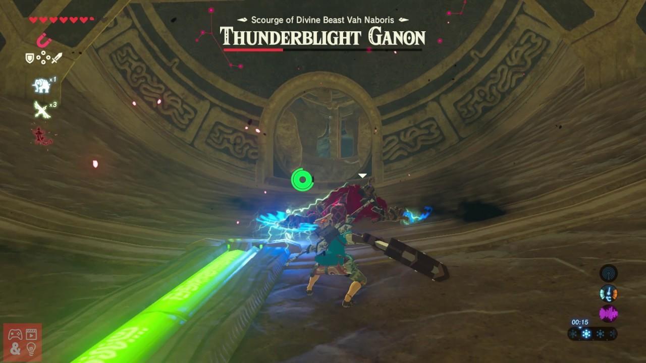 Zelda Breath Of The Wild Thunderblight Ganon Boss Fight