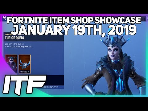Fortnite Item Shop *NEW* ICE QUEEN SKIN AND REAPER IS BACK! [January 19th, 2019]