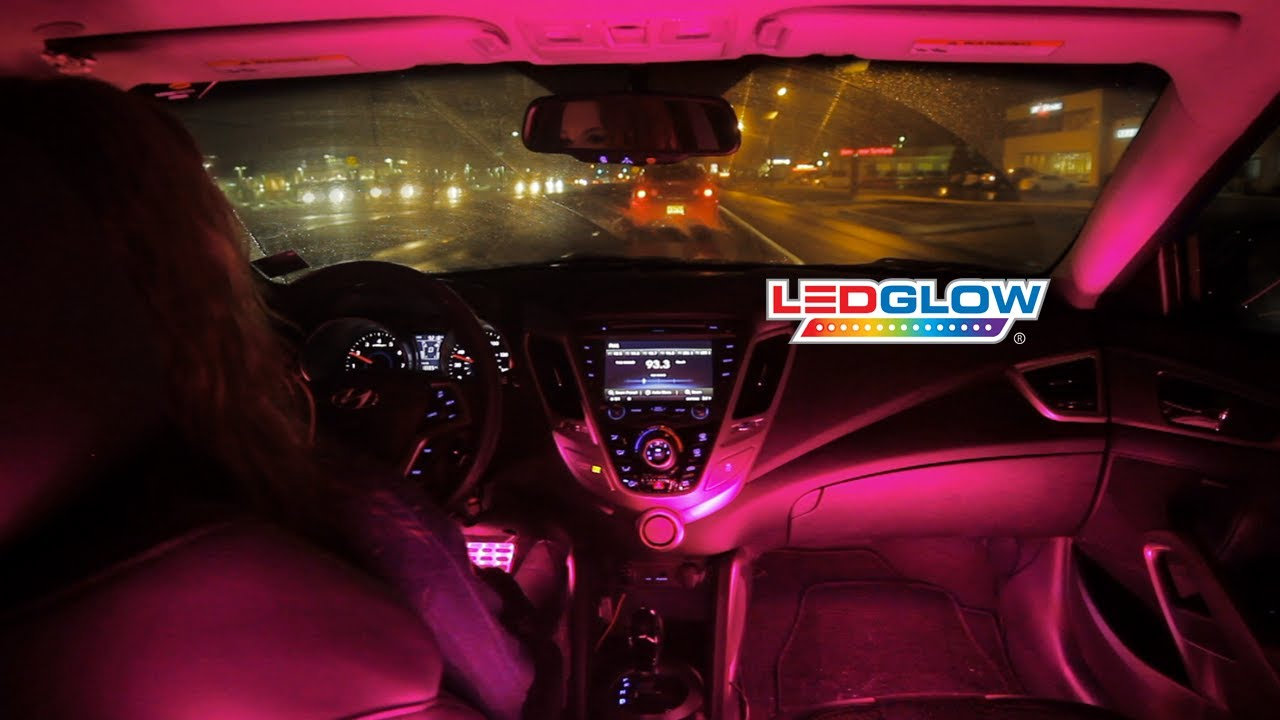 Ledglow 39 S Pink Expandable Smd Led Interior Kit Youtube
