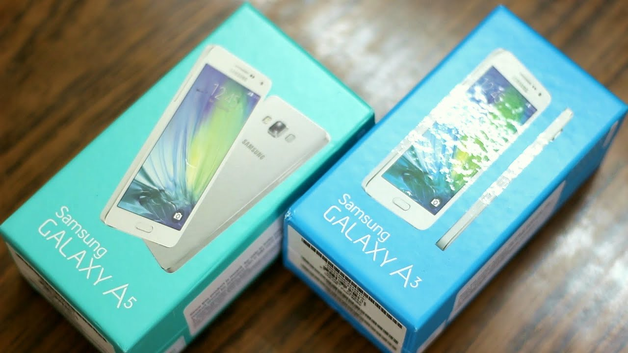 Samsung Galaxy A3 and Galaxy A5 Unboxing