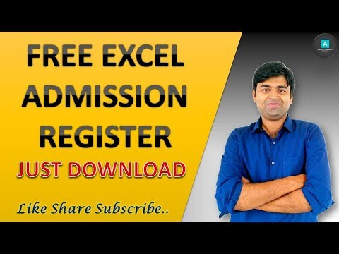 Free Excel Admission Register for  School | Download Student Master database in Excel..
