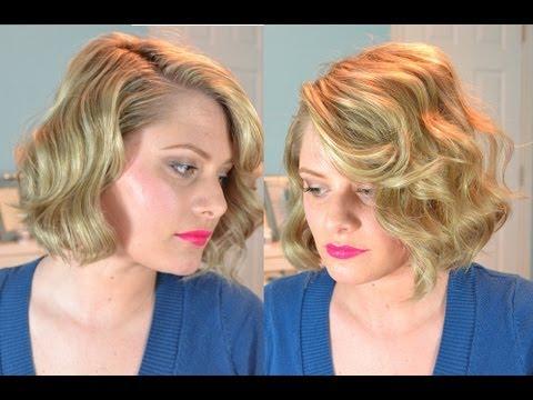 Old Hollywood Finger Waves Short Hair Youtube